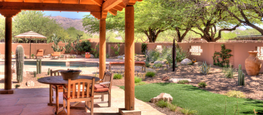 Landscaping work in Tucson, Arizona
