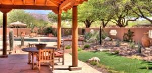 Landscaping work in Tucson, Arizona